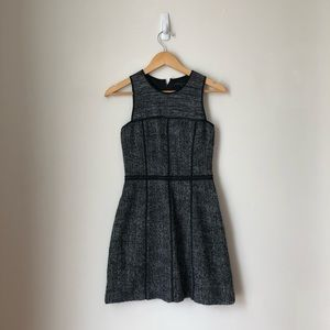Theory Dresses - Theory Grey Wool Mohair Tweed Franzie Dress